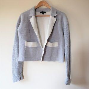 ANN TAYLOR Merino Wool Open Front Cardigan Size M